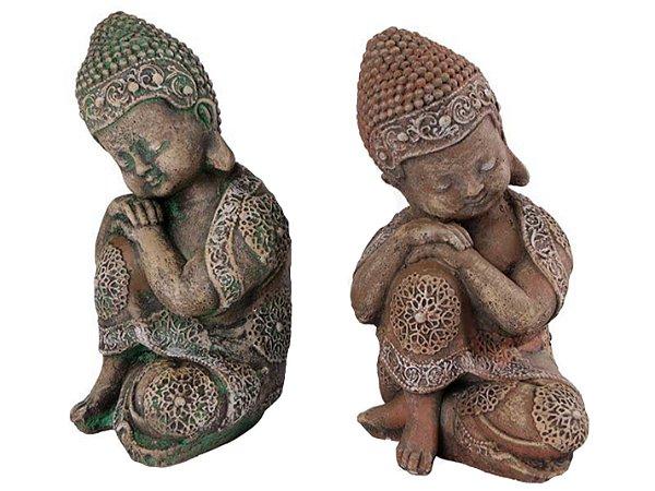 Buda Bebe Meditação de Pedra 28cm