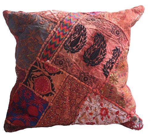 Almofada Índia  Patch work - 45cm x 45cm