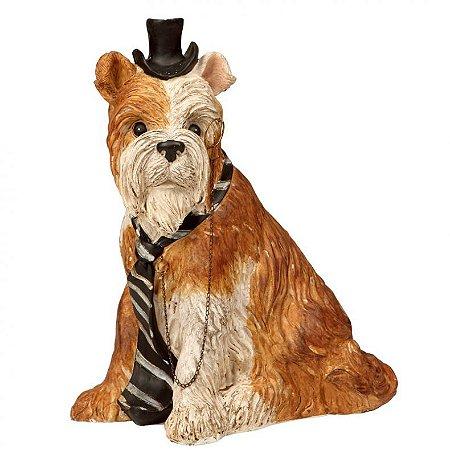 Cachorrinho Sherlock - Alt. 17cm