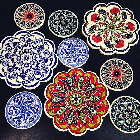 Descanso cerâmica Turquia - 18cm   (+ detalhes na descrição)