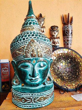 Buda rosto pedestal 40cm