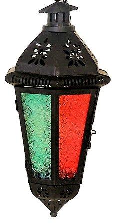 Lanterna Marroquina Vitral - Teto 40cm