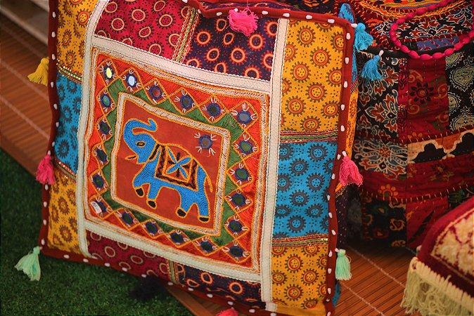 Almofada puf indiana -  50cm x 50cm / (capa)