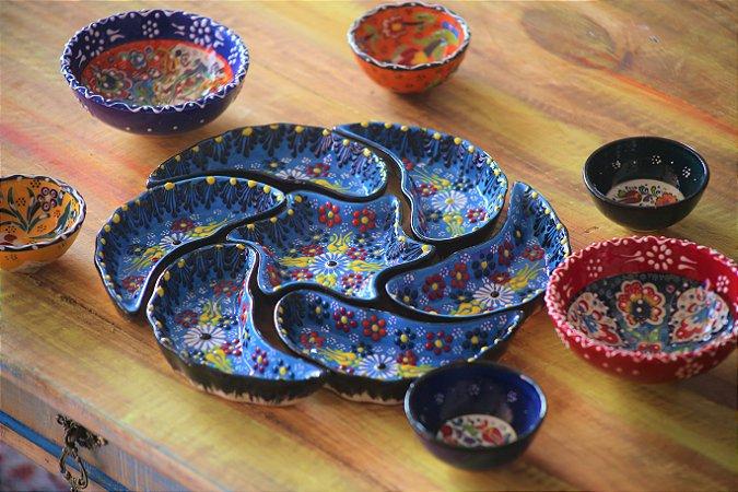 Petisqueira Cerâmica Turquia 7pçs