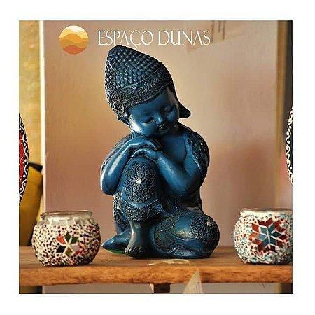 Buda Bebe pensativo - Gesso/Resina 28cm