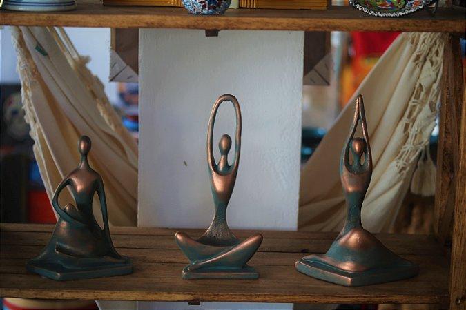 Trio Estatueta Yoga - Posições 28cm