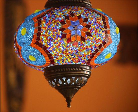 Lustre teto vitral Turquia - renkleri   (cúpula  22cm)