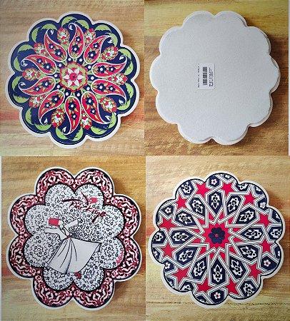 Descanso de Panela cerâmica da Turquia 16cm  (modelos Variados)