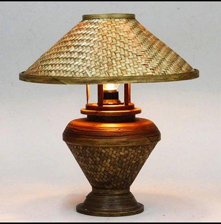 Abajour Natural fribra/Bambu 40cm  - Tailândia