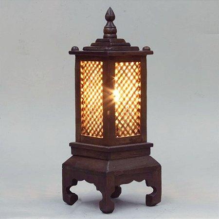 Luminária THAI - Madeira nobre/Tailândia 40cm