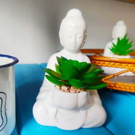Vasinho Budha  decoração - artificial 12cm