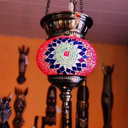 Lustre vitral Rubi - Turquia 27cm