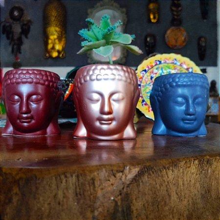 Vasinho/porta velas Buda - Cerâmica 08cm