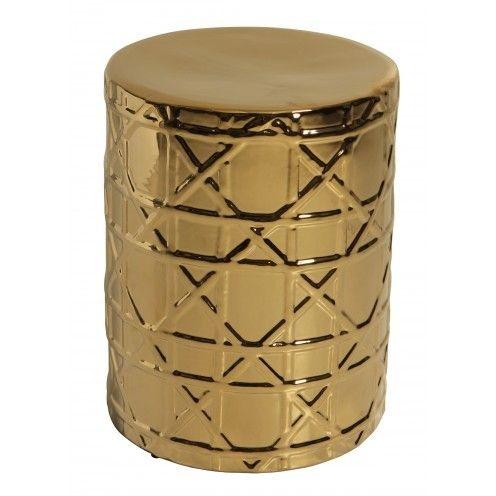 Garden Seat Egito Gold - Porcelana