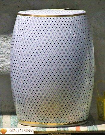 Garden Seat Elegance White - Porcelana