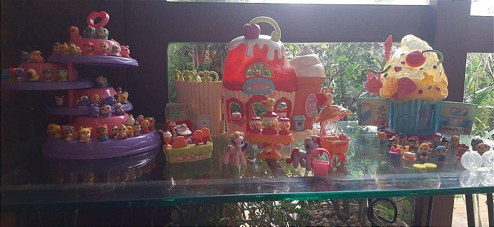 Kit brinquedos Little Poney / Squinkies/ Squinkies casa