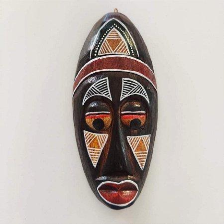 Máscara madeira coleção africana - 20cm