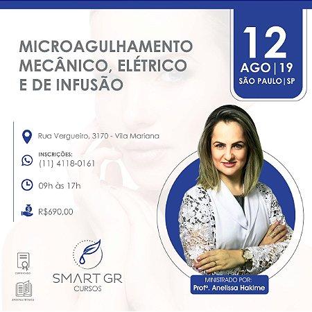 Curso Microagulhamento (mecânico, elétrico e de infusão) -  São Paulo 12  Agosto 2019