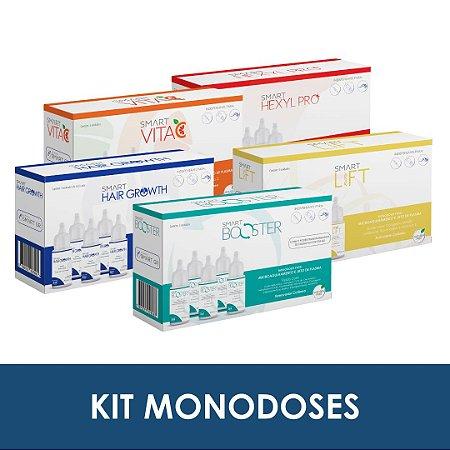 Kit monodoses | Smart Booster, Smart Lift, Smart Hexyl Pro, Smart Vita C e Smart Hair Growth - Smart GR