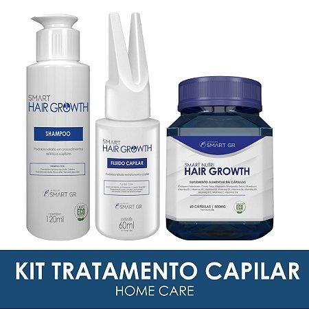 Kit Tratamento Capilar - Shampoo, Fluido e Nutricosmético - Home care