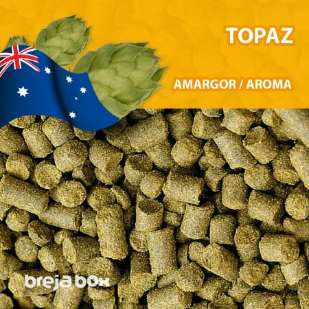 Lúpulo Topaz - 50g em pellet | Breja Box