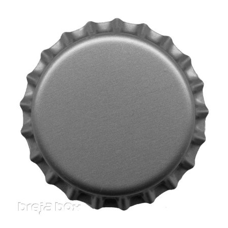 Tampinha de garrafa prata - 100 unidades |TWIST OFF - Breja Box
