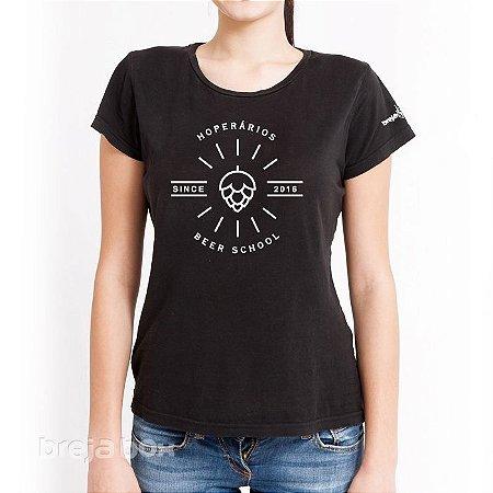 Camiseta Cervejeira HOPerários (Baby Look Preta)