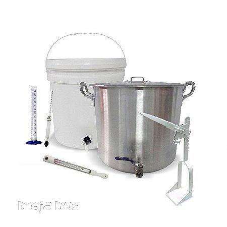 Kit básico de equipamentos para produção de cerveja caseira - BIAB Breja Box