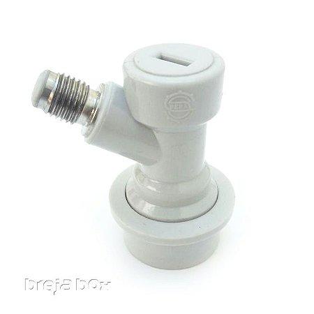 """Conector Ball Lock para gás (ROSCA 1/4"""")"""