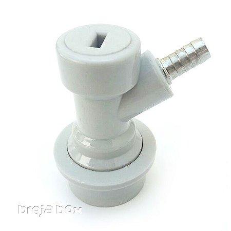 """Conector Ball Lock para gás (ESPIGÃO 1/4"""")"""