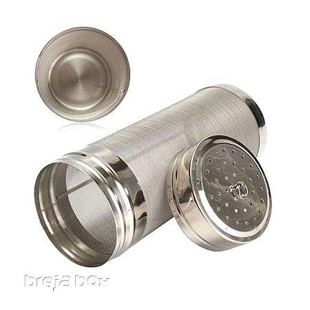 Cilindro Inox para Dry Hopping 7x18-Breja Box