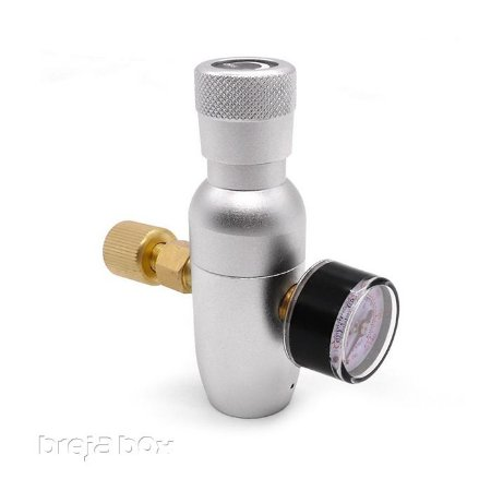 Mini regulador de pressão para cartucho de CO² com rosca - Breja Box