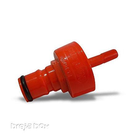 Carbonator ball lock plástico para garrafa PET - Breja Box