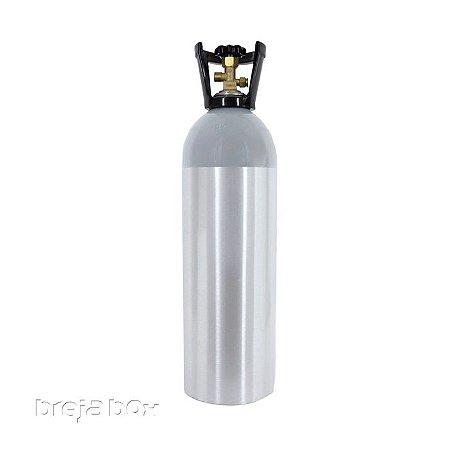 Cilindro de alumínio para gás CO²(5LB - 2,3KG) | Breja Box