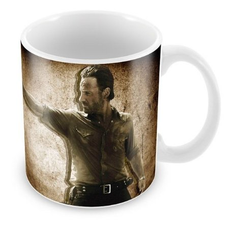 Caneca Porcelona The Walking Dead Rick Grimes