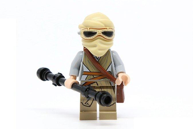 Boneco Rey Star Wars Lego Compatível