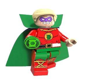 Boneco Compatível Lego Lanterna Verde Alan Scott - Dc Comics (Edição Especial)