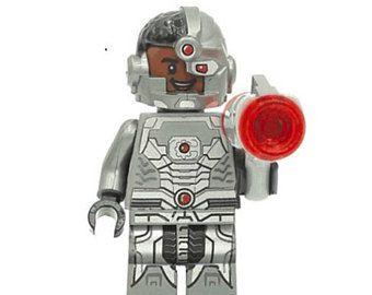 Boneco Cyborg Lego Compatível - Dc Comics