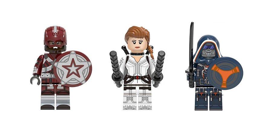 Kit Filme Viúva Negra LEGO compatível - Marvel c/3 (Edição Deluxe)