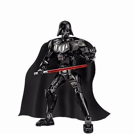 Boneco Star Wars - Darth Vader 28 Cm Compatível Lego 160 Peças