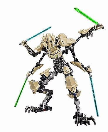 Boneco General Grievous Star Wars Lego Compatível 32 Cm (183 Peças)