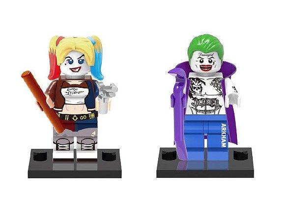 Kit Esquadrão Suicida - Arlequina e Coringa Lego compatível