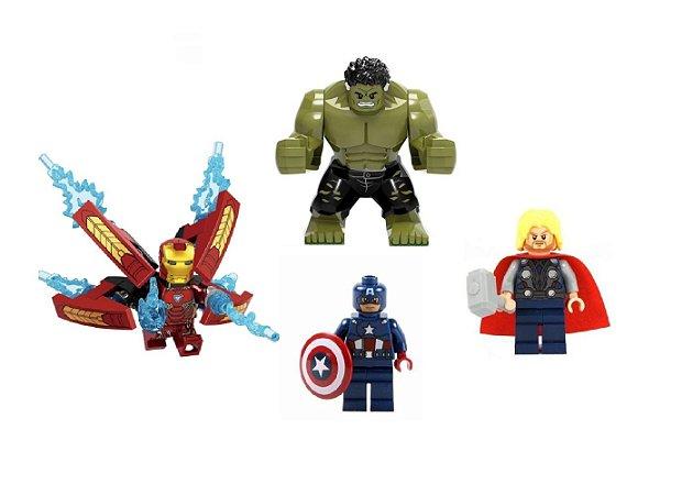 Kit Vingadores LEGO compatível com 4 - Marvel