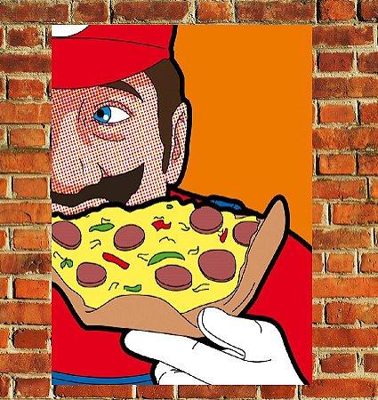 Quadro Decorativo Mdf - Mario Pizza (20x30)