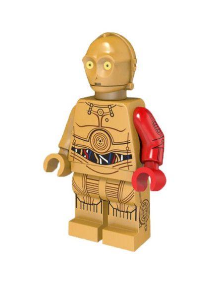 Boneco C3PO Star Wars Lego Compatível