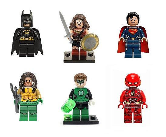Liga da Justiça LEGO compatível - Dc Comics (C/6)
