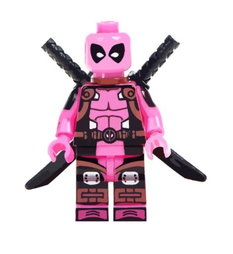 Mini Figura Compatível Lego Deadpool Rosa (Edição especial)