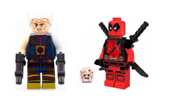 Kit DeadPool 2 - Bonecos Cable e DeadPool Lego Compatível