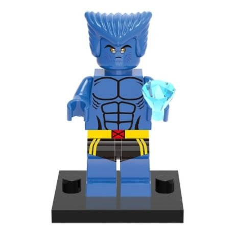 Mini Figura Compatível Lego Fera X-MEN Marvel