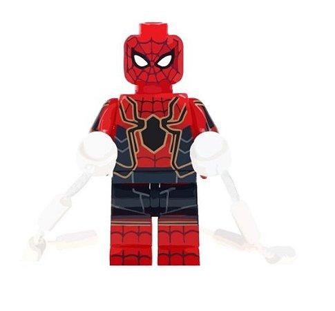 Mini Figura Compatível Lego Homem Aranha Marvel (Edição Especial Vingadores 3)